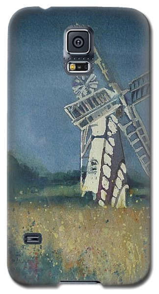 Galaxy S5 Case featuring the painting The Windmill by Lori Ippolito