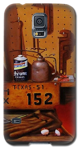 Galaxy S5 Case featuring the painting The Workshop by Gene Gregory