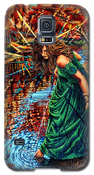 Galaxy S5 Case featuring the painting The World Unseen by Greg Skrtic
