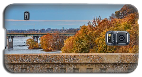 The Wright's Ferry Bridge In Fall Galaxy S5 Case