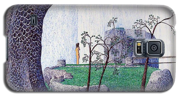 Galaxy S5 Case featuring the painting The Yearning Tree by A  Robert Malcom