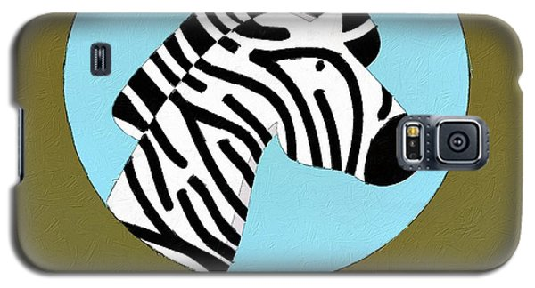 The Zebra Cute Portrait Galaxy S5 Case by Florian Rodarte
