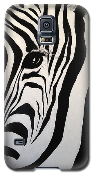Galaxy S5 Case featuring the painting The Zebra With One Eye by Alan Lakin