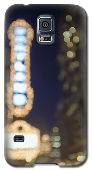 Theater Marquee Lights On Broadway Bokeh Background Galaxy S5 Case