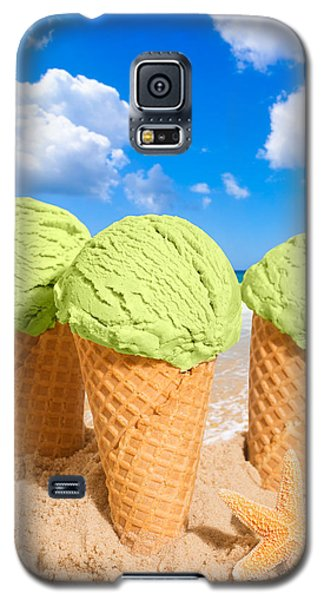 Ice Galaxy S5 Case - Thee Minty Icecreams by Amanda Elwell