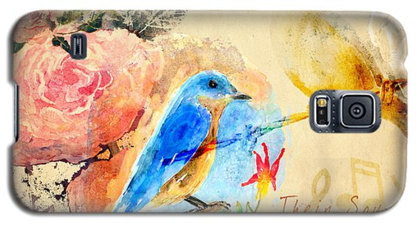 Galaxy S5 Case featuring the mixed media Their Sounds Fill The Air by Arline Wagner