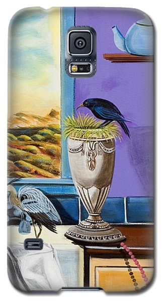Galaxy S5 Case featuring the painting There Are Birds In The Kitchen Sink by Susan Culver