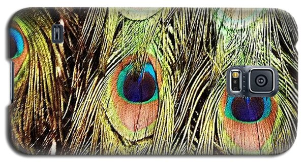Colorful Galaxy S5 Case - Peacock Feathers by Blenda Studio