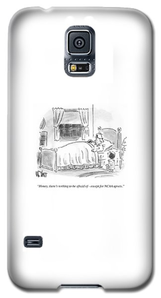 Sport Art Galaxy S5 Case - There's Nothing To Be Afraid by Christopher Weyant