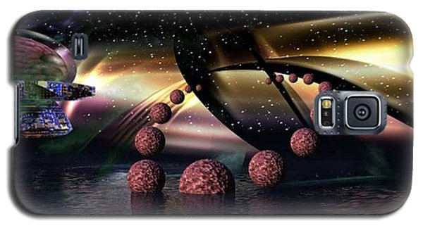 Galaxy S5 Case featuring the digital art They Came From Outer Space by Jacqueline Lloyd
