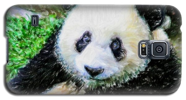 Galaxy S5 Case featuring the painting Thinking Of David Panda by Lanjee Chee