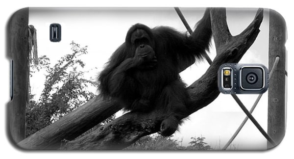 Galaxy S5 Case featuring the photograph Thinking Of You Black And White by Joseph Baril
