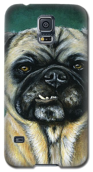 This Is My Happy Face - Pug Dog Painting Galaxy S5 Case