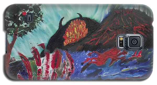 Galaxy S5 Case featuring the painting This Is Your World by Martin Blakeley