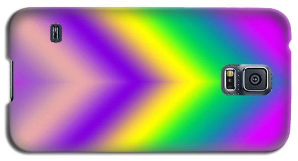 Galaxy S5 Case featuring the digital art This Way - Pink by Karen Nicholson