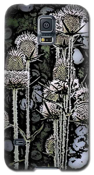 Galaxy S5 Case featuring the digital art Thistle  by David Lane
