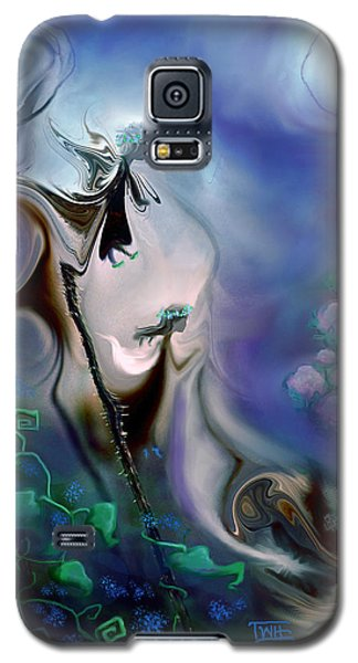 Galaxy S5 Case featuring the photograph Thistle Fairies In Blue by Terry Webb Harshman