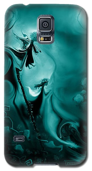 Galaxy S5 Case featuring the photograph Thistle Fairies In Monochrome by Terry Webb Harshman