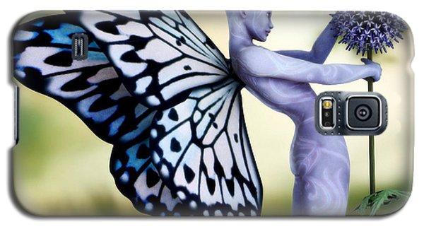 Galaxy S5 Case featuring the digital art Thistle Fairy by Sandra Bauser Digital Art