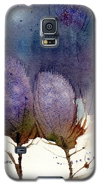 Galaxy S5 Case featuring the painting Thistle Weather by Anne Duke