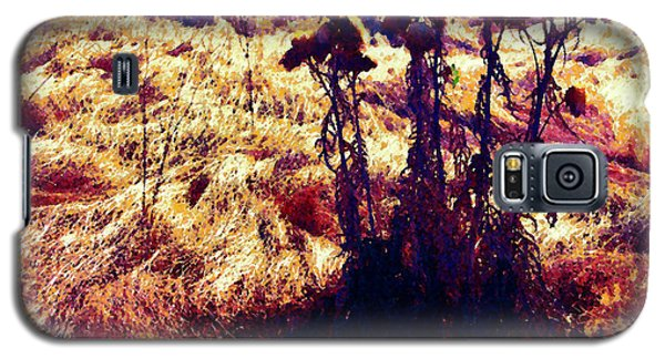 Galaxy S5 Case featuring the photograph Thistles In A Summer Field by Timothy Bulone