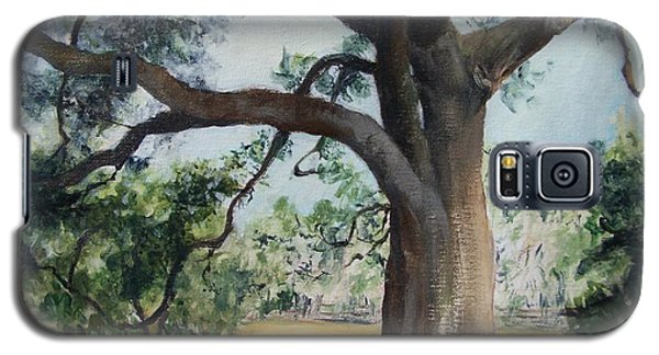 Galaxy S5 Case featuring the painting Thomasville Oak by Mary Lynne Powers