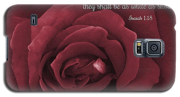 Though Your Sins Be As Scarlet Red Rose Galaxy S5 Case
