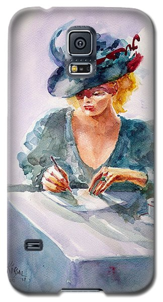 Galaxy S5 Case featuring the painting Thoughtful... by Faruk Koksal