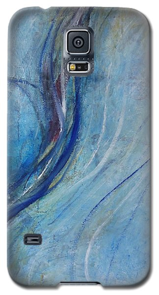 Galaxy S5 Case featuring the painting Threads by John Fish