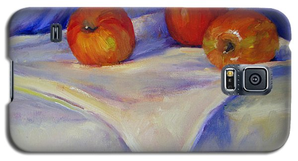Three Apples With Blue And White Galaxy S5 Case