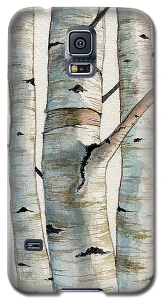 Three Birch Trees Galaxy S5 Case