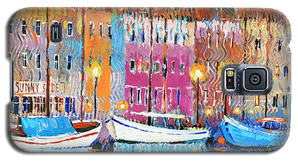 Galaxy S5 Case featuring the painting Three Boats by Dmitry Spiros