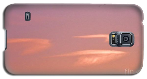 Galaxy S5 Case featuring the photograph Three Clouds Three Geese by Suzanne McKay