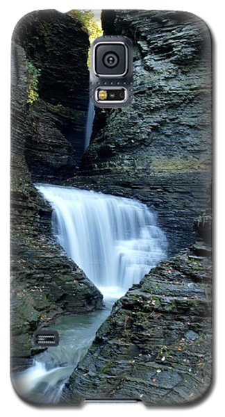 Three Falls In Watkins Glen Galaxy S5 Case by Joshua House