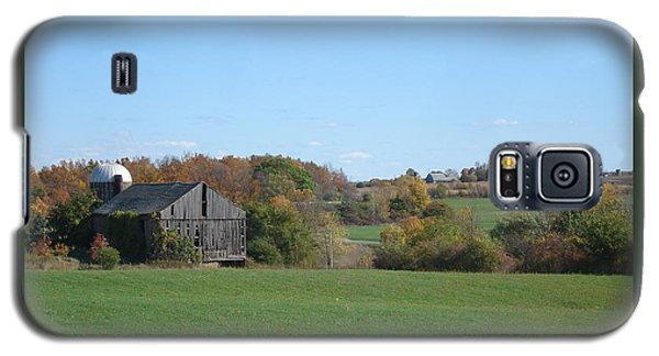 Three Farms In Autumn Galaxy S5 Case by Patricia Overmoyer