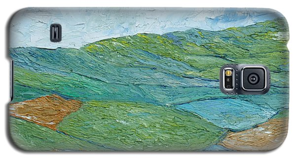 Galaxy S5 Case featuring the painting Three Fields Of Barley by Conor Murphy