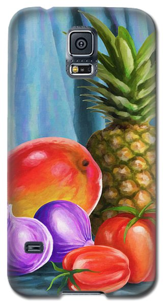 Three Fruits And A Vegetable Galaxy S5 Case by Anthony Mwangi
