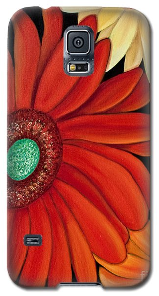 Galaxy S5 Case featuring the painting Three Gerbera by Barbara McMahon