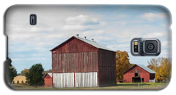 Galaxy S5 Case featuring the photograph Three In One Barns by Debbie Green