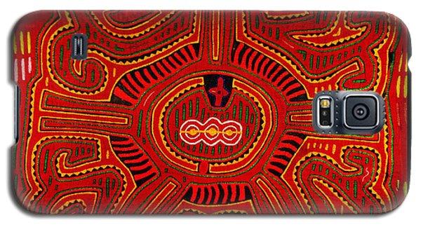 Galaxy S5 Case featuring the digital art Three Layers Of The World by Vagabond Folk Art - Virginia Vivier