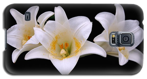 Galaxy S5 Case featuring the photograph Three Lilies by Andy Lawless