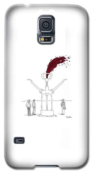 Three Men In Berets Drill Into The Ground Galaxy S5 Case by Charlie Hankin