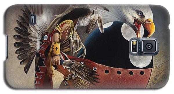Three Moon Eagle Galaxy S5 Case by Ricardo Chavez-Mendez