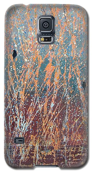Galaxy S5 Case featuring the painting Three Of A Kind by Suzanne Theis