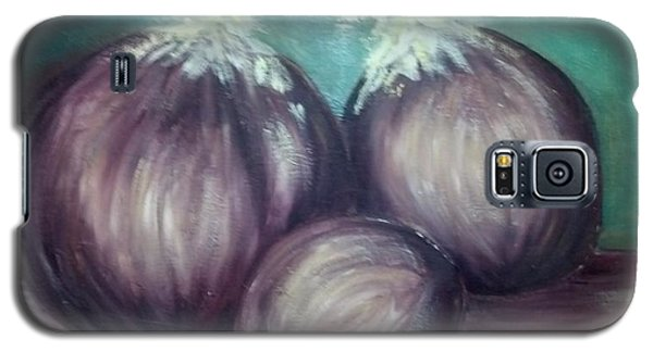 Galaxy S5 Case featuring the painting Three Onions by Richard Benson