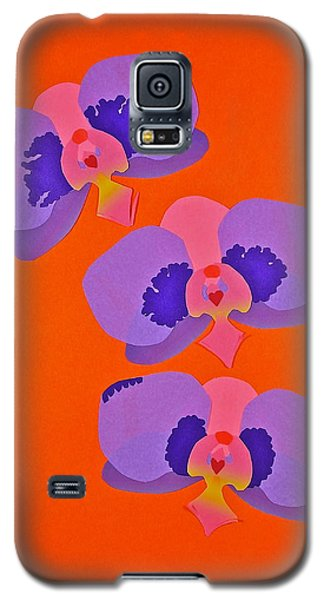 Three Orchids Galaxy S5 Case by Michele Myers