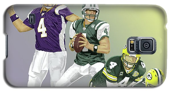 Galaxy S5 Case featuring the digital art Three Stages Of Bret Favre by Thomas J Herring