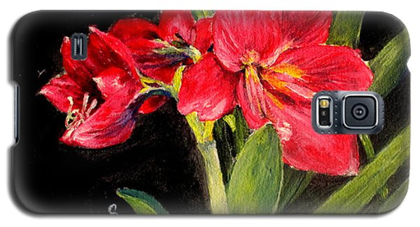 Three Stalks Of Lilies Blooming Galaxy S5 Case