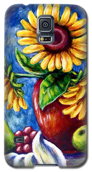 Three Sunflowers And A Pear Galaxy S5 Case