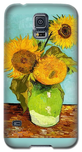 Three Sunflowers In A Vase Galaxy S5 Case